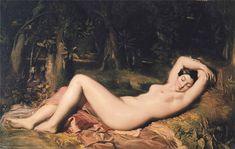 Théodore Chassériau (1819–1856): Baigneuse endormie près d'une source (1850)