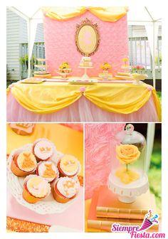 Ideas para fiesta de cumpleaños de la película Bella y Bestia de Disney. Encuentra todos los artículos para tu fiesta en nuestra tienda en línea: http://www.siemprefiesta.com/fiestas-infantiles/ninas/articulos-bella-y-bestia.html?utm_source=Pinterest&utm_medium=Pin&utm_campaign=Bella
