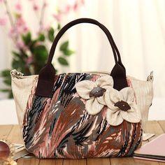 Women National Style Canvas  Casual Shoulder Bag Handbag Crossbody Bags