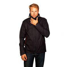 LUMO Mens Regents Parka Jacket with 14x 4 Lumen LED light strips running vertically down the front centre and also horizontally across the rear hem of the jacket for optimal visibility when cycling