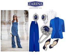 Модное сапфировое настроение  #ZARINA #сапфиры #стиль
