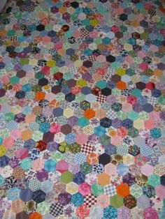 1960's hexagon quilt