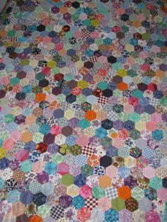 1960's hexagon quilt