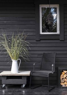 Outdoor Furniture, Outdoor Decor, Outdoor Chairs, Summer House, House, Home Decor, Outdoor Living, Black House, Lake House