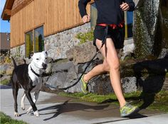 Runners Joggers and Walkers - Jogging Belt with Dog Leash