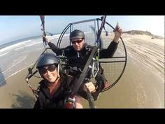 Fly The Outerbanks of North Carolina - Powered Paragliding - Paramotor Flying With Jessica - Shot with GoPro and XShot