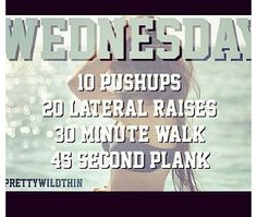 Wednesday Diets & Workouts