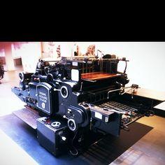 Offset Printing Press Heidelberg (1950), at Imprenta Municipal in Madrid