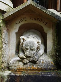 Beware of dog ~ guards the entrance to Dumas' Chateau d'If, France