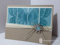 www.stampenvy.ca, stampin up, swallowtail, iridescent ice, heat emboss, designer builder brad