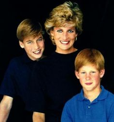 Princess Diana, William & Harry - Happy Times