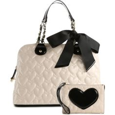 """Betsey Johnson Handbag and Coin Purse Set"" by mgfrias on Polyvore"