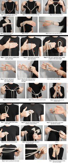 Shibari Tutorial Hand Ties