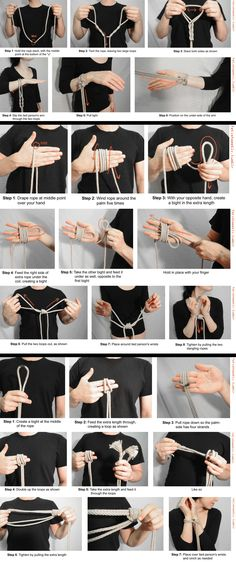 Shibari Tutorial Hand Ties