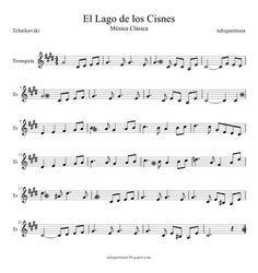El Lago de los Cisnes de Piotr IIich Tchaikovski Partitura para Trompeta y…