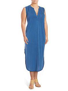 Rachel Roy Plus Side Slit Colorblock Dress In Indigo Day Dresses, Summer Dresses, Rachel Roy, Colorblock Dress, Color Blocking, Indigo, Cold Shoulder Dress, Boho, Clothes For Women