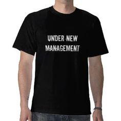 Under New Management #funny #wedding Mens #T-Shirt