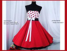 Rockabilly Kleid zum Petticoat von Schneiderei Heike Borchers auf DaWanda.com
