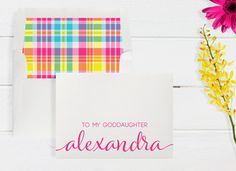 Personalized/Custom To My Goddaughter Card with by DenaMariaPapers