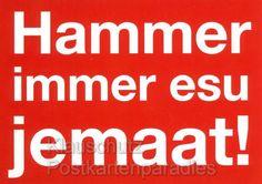 Hammer immer esu jemaat - Kölsche Postkarte //  CP2817 <br /> Kölsch Postkarte - Hammer immer esu jemaat