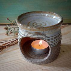 unique,stoneware,handmade Essential Oil Burner, Essential Oils, Candle Jars, Candle Holders, Candles, Oil Burners, Stoneware, Pottery, Ceramics