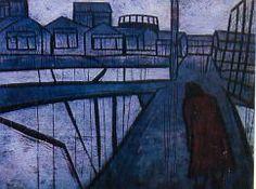 """Черный дождь"" - 1956 -Тадасигэ Оно Painting, Art, Art Background, Painting Art, Kunst, Paintings, Performing Arts, Painted Canvas, Drawings"