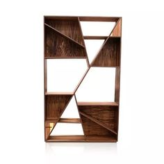 librero minimalista bankole madera parota nogal bocapi