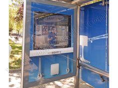 Mobiliario Urbano Espectacular | SP Integrales Publicidad interactiva de Samsung en mobiliario urbano