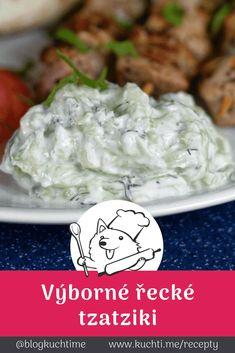 Super okurka v řeckém tzatziki kabátku Tzatziki, Treats, Fit, Sweet Like Candy, Goodies, Shape, Sweets, Snacks