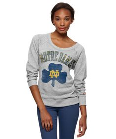Notre Dame Irish Women's Sweatshirt. Cute. Go Irish!