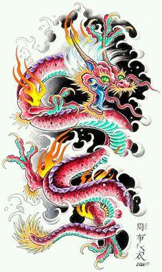 Dragon Tattoos For Men, Dragon Sleeve Tattoos, Japanese Dragon Tattoos, Dragon Tattoo Designs, Dragon Tattoo Pictures, Dragon Images, Dragon Pictures, Werewolf Art, Tattoo Lettering Fonts