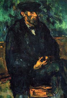 The Sailor, 1906 - Paul Cezanne/At the age of 18 Soulages travelled to Paris, where he visited museums and was fascinated by the artists Pablo Picasso and Paul Cézanne Paul Gauguin, Paul Signac, Cezanne Art, Paul Cezanne Paintings, Wassily Kandinsky, Renoir, National Gallery Of Art, Art Gallery, Cezanne Portraits