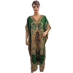 Moroccan Caftans for Womens Green Ethnic Print Satin Crepe Lounge Wear Kaftan (Apparel)  http://www.amazon.com/dp/B007SRUD28/?tag=classy111-20  B007SRUD28