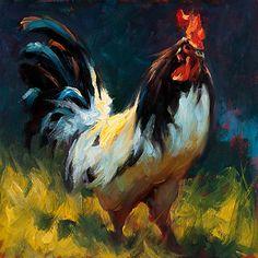Foghorn Leghorn by Cheri Christensen Oil ~ 12 x 12