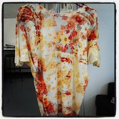Half of Kai Chung's garment for the @UBIFRANCE collection - love the floral. #fashion #prints #nyfw