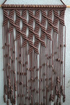 Home Decorative Macrame Wall Hanging image 3 Macrame Design, Macrame Art, Macrame Projects, Macrame Knots, Macrame Wall Hanging Patterns, Macrame Patterns, Quilt Patterns, Macrame Plant Holder, Macrame Plant Hangers