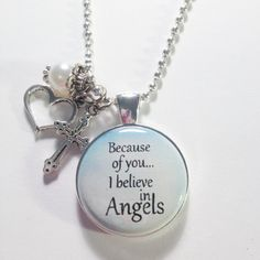 MEMORIAL CHARM  Because of you I believe in by AnnmarieJewelryTree