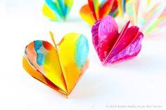 3D Paper Heart - Valentine's Day Craft & Decoration