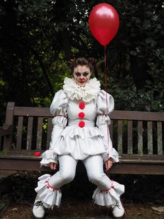 Pennywise Costume dress with pants IT 2017 clown costume