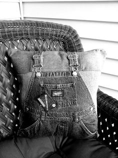 Upcycled decorative throw pillow made from repurposed premium denim jeans. Each pillow is one-of-kind and the approximate size is 15x15.    When purchasing one of our reused/repurposed/restored or upcycled items, you are not only supporting small business and the artist that handmade your item bu...