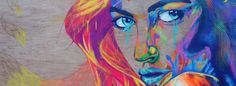 Vibrant portraits on wood by Rowan Newton (User Submission) | Inspiration Hut