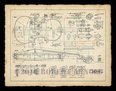 Impresión de color de planes de un diecinueveavo siglo por SirPrys