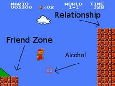 #funny, #relationships, #love, #game, #mario // Power Up - the Mario Style to explain how to get out of the friend zone into relationship. Love it!