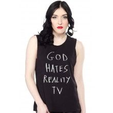 HIPS AND HAIR REALITY TV MUSCLE TEE