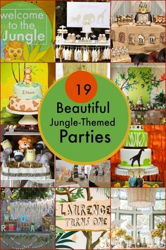 Jungle Themed Safari Birthday Party Ideas for Boys www.spaceshipsandlaserbeams.com