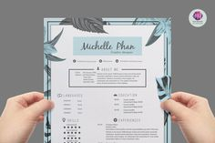 CV  template / resume template cover letter por ChicTemplates