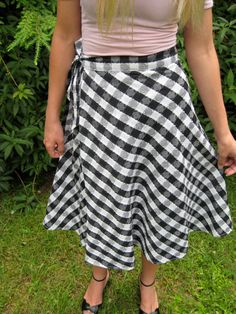 Vintage 70s Black and White Checkered Wrap by BeatificVintage, $22.00