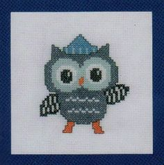 Owl In Hat - Cross Stitch Kit