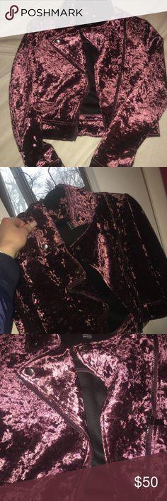 Purple velvet jacket Purple velvet jacket brand new Forever 21 Jackets & Coats
