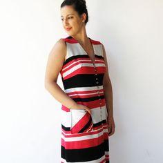 Vintage 1970s Maxi Dress / Striped Dress / by rakshniyavintage